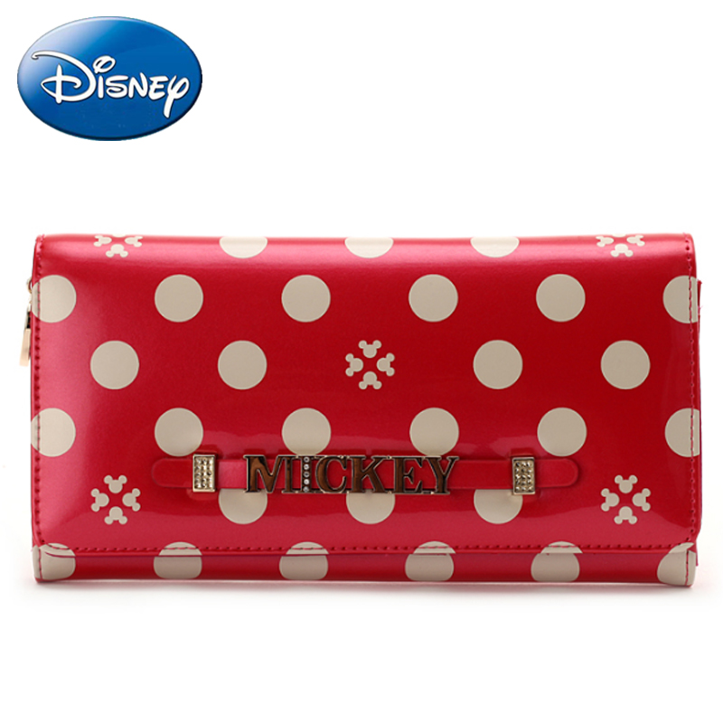 2019 Disney New Women Handbag Wallet Fashion Wallet Female Long Pu Zipper Pouch Casual Girl Purse Card Lady Party Wallets Holder in Diaper Bags from Mother Kids