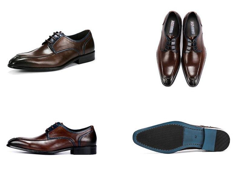 Men's Casual Shoe Business Mens Genuine Leather Shoes Men Big Size 45 Casual Leather Oxford Shoes For Men Lace Up Brogues Formal (11)