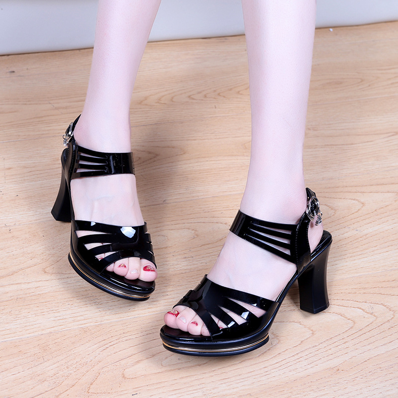 Sandals female 2019 summer new female Korean version of the wild fish mouth shoes Roman women's sandals(China)
