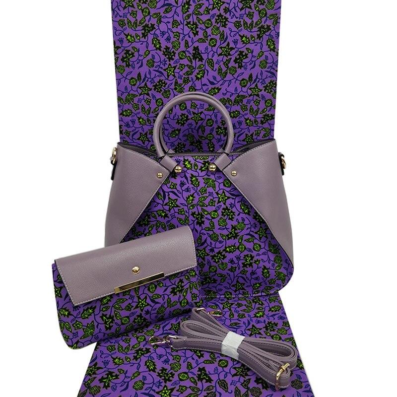 Hollandais Wax Handbag Set African Prints Bag With Real Dutch Wax Hollandais Fabric 6 Yards 100% Cotton For Womens Bag H1903250Hollandais Wax Handbag Set African Prints Bag With Real Dutch Wax Hollandais Fabric 6 Yards 100% Cotton For Womens Bag H1903250