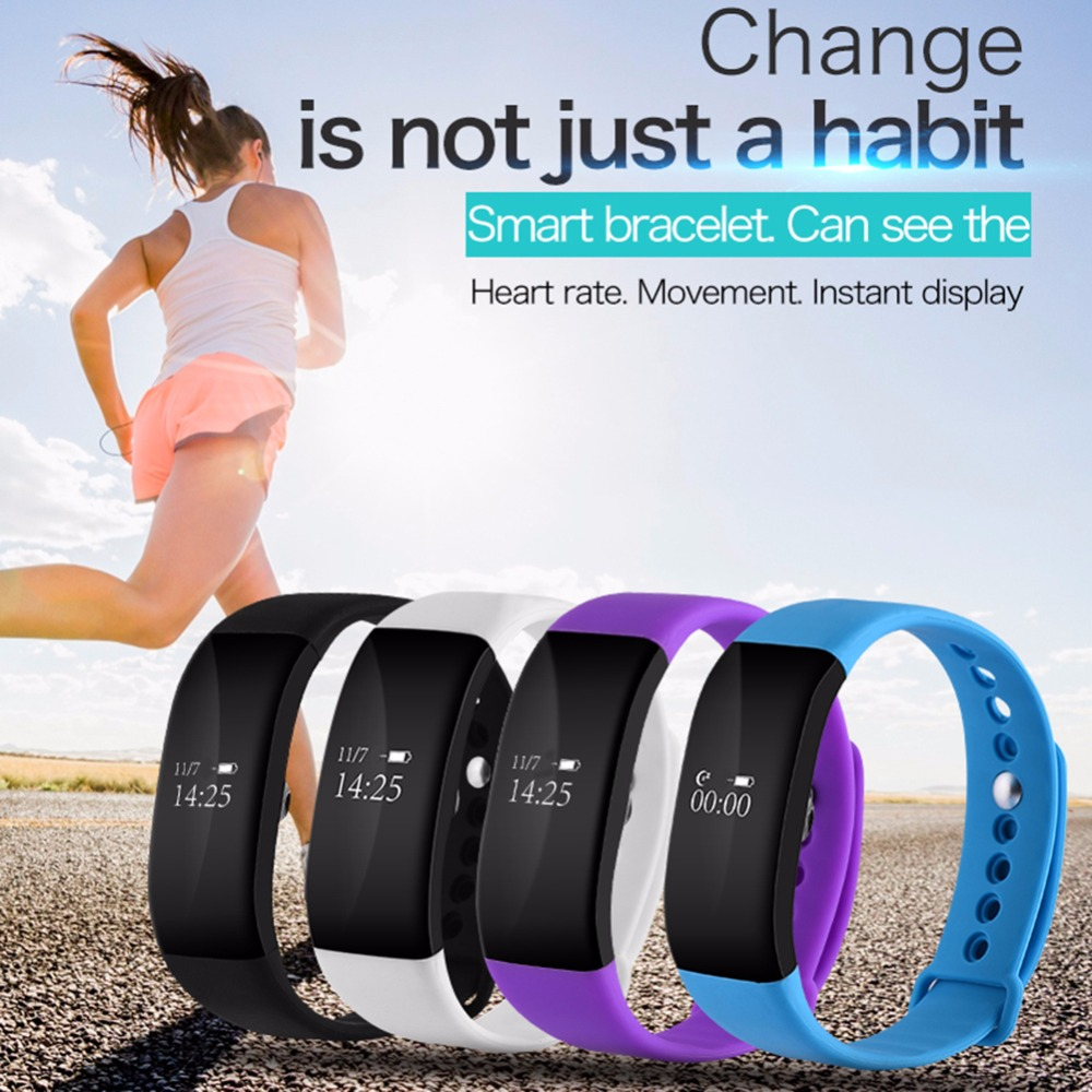 V66 Smartband Bluetooth Sport Smart Watch IP67 Waterproof Heart Rate Monitor Wristband Smart Health Bracelet for