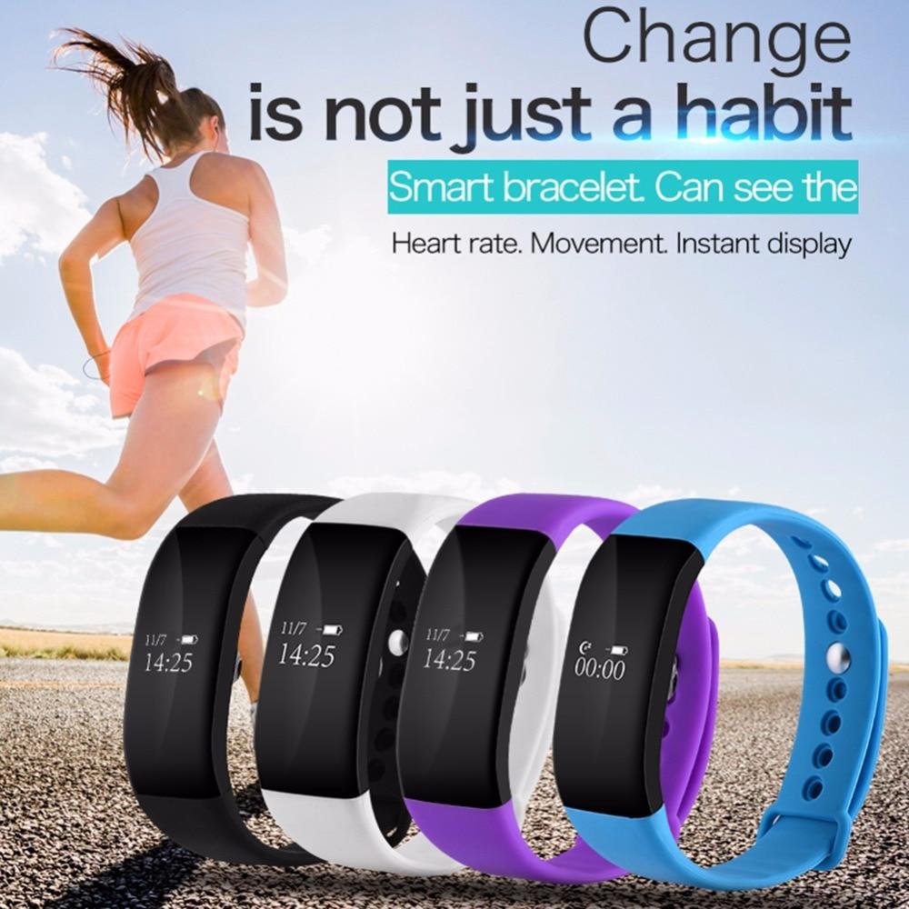 V66 Smartband Bluetooth Sport Smart Watch IP67 Waterproof Heart Rate Monitor Wristband Smart Health Bracelet for