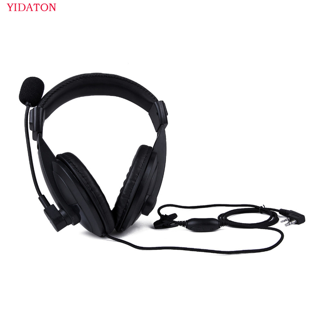 Headphone Radio Heavy Duty Headset With Double Earmuff Headset For Kenwood TK 3107 BAOFENG UV 5R Radio Helmet PTT VOX Earpiece