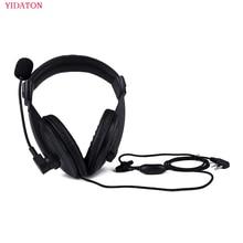Hoofdtelefoon Radio Heavy Duty Headset Met Dubbele Oorbeschermer Headset Voor Kenwood TK 3107 BAOFENG UV 5R Radio Helm PTT VOX Oortelefoon