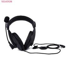 ヘッドホン無線ヘビーデューティーヘッドセットダブル耳あてヘッドセットケンウッド TK 3107 BAOFENG UV 5R ラジオヘルメット PTT Vox イヤホン