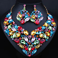 New Magnificent Multi Color Crystal Bridal jewelry sets Multi Color necklace sets wedding jewelry sets for bride accessories