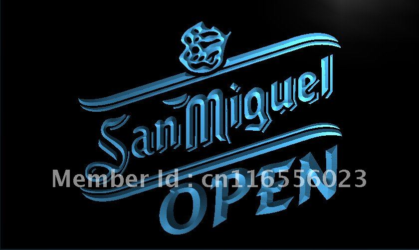 Us 11 5 La078 San Miguel Beer Open Bar Led Neon Light Sign Home Decor Crafts In Plaques Signs From Garden On Aliexpress