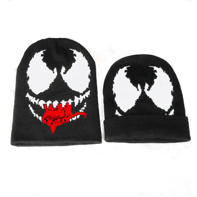 US $11.56 51% OFF|Venom Mask Pattern Beanies Men Hats Accessories Knitted Beanie Cap Winter Keep Warm Hat|Men