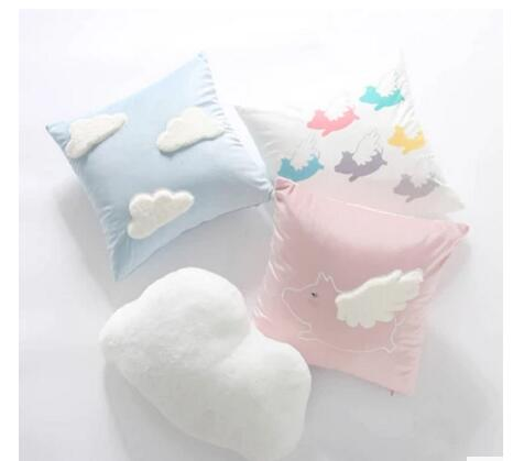 Pink Clouds Clouds Pillow Cover Girl Cute Cushion Cover Car Children Pillow Cover