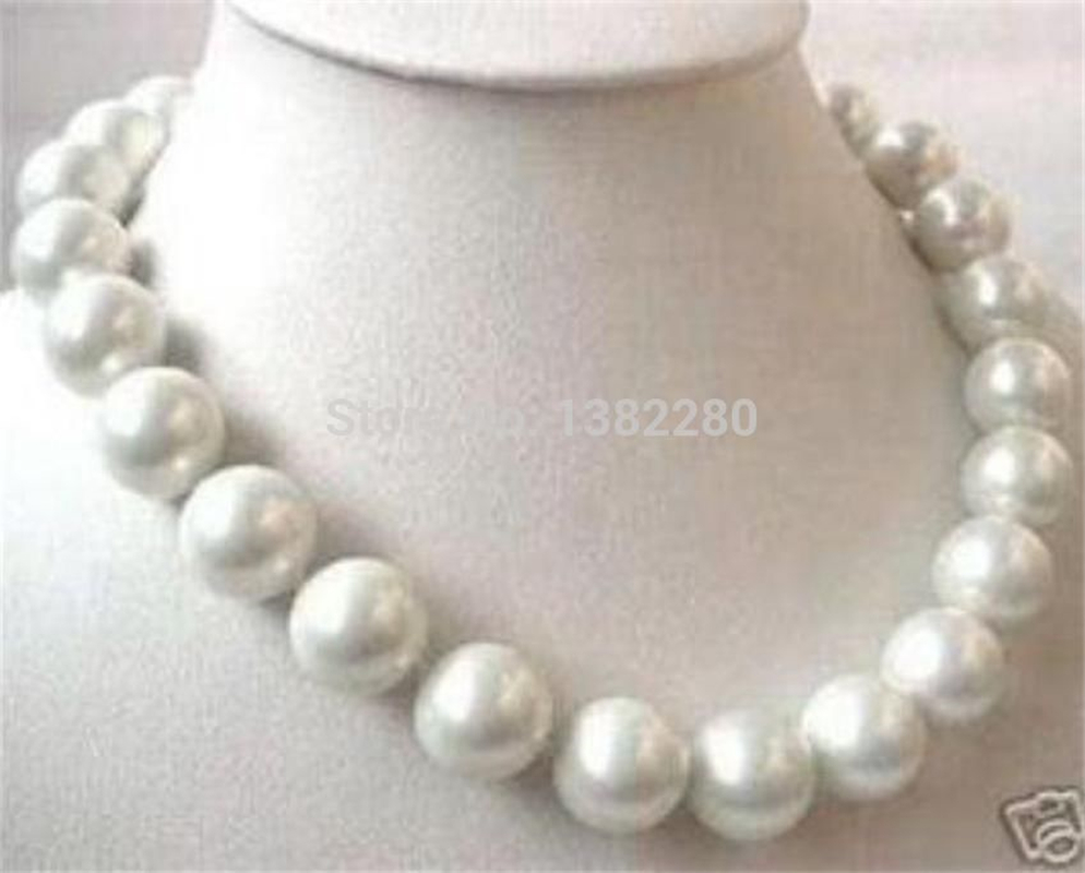 Big 14mm White Sea South Shell Pearl Necklace 18 Inch Jt5928(china  (mainland)