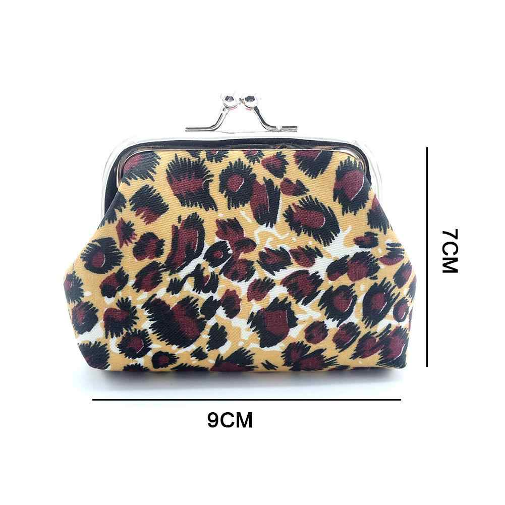 1db48db2bb86 Innovative Leopard Pattern Coin Purses Mini Lovely Children's girl Women  Lady Wallet Printing earphones Storage Bag Buckle Clips