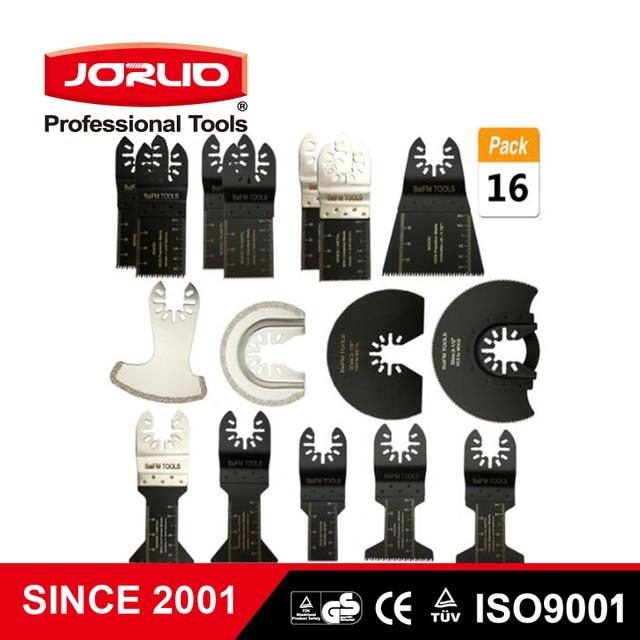 16 pçs oscilante multi função universal lâmina de serra cortador aço carbono para diy renovador