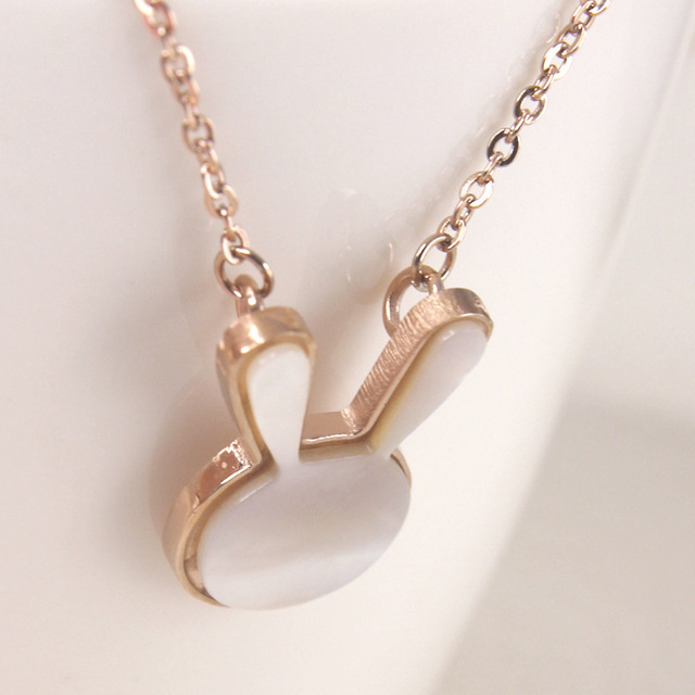 Fashion jewelry necklace Rose gold collarbone chain necklace for