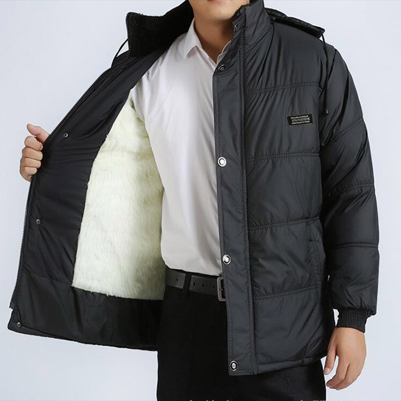 dropshipping Men 2019 winter women hooded coat fur warm long jacket female plus size outerwear   parka   mens chaqueta feminino