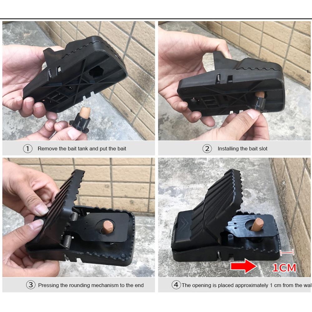 Крысиная ловушка Ловушка-легкая Опора многоразовая пружинная мышка ловушка Удобная грызунок черный мышеловка вредитель мышь эффективные домашние инструменты ловля