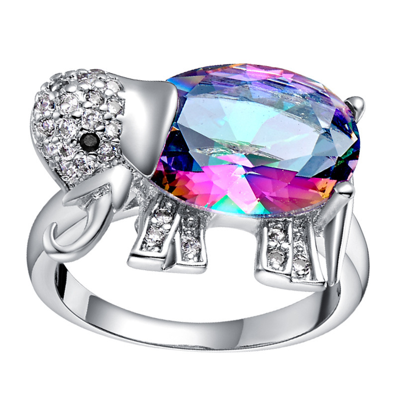 aliexpress buy luxury white gold plated aaa swiss luxury rings18k white gold plated with multicolor