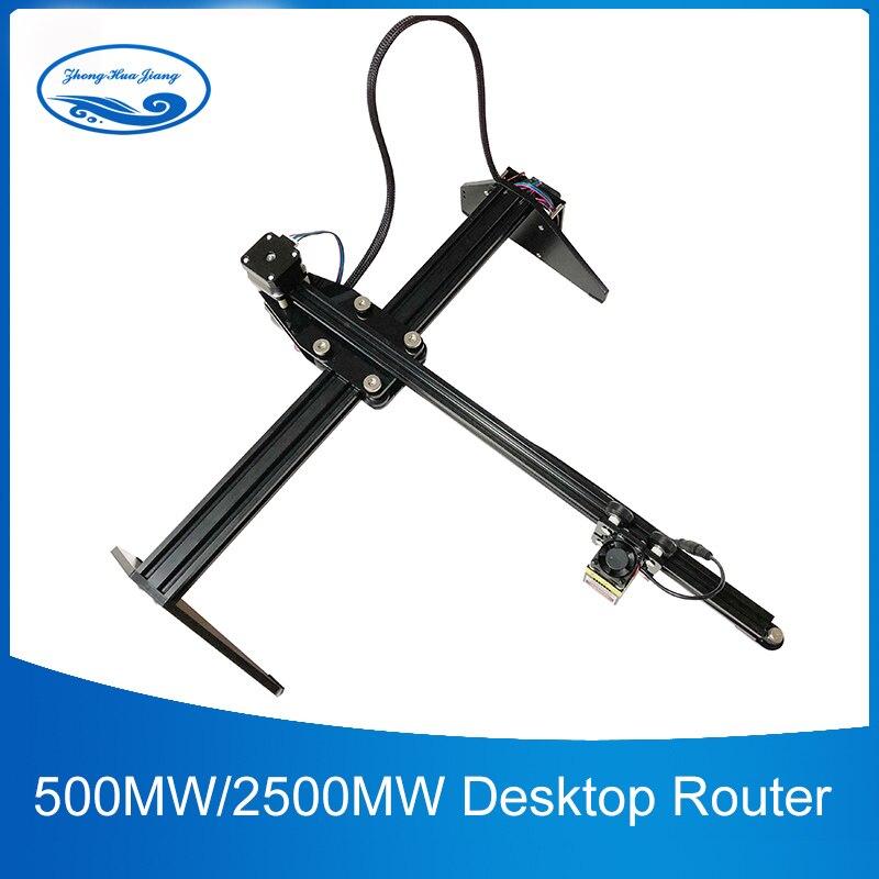500 mw/2500 mw/5500 mw Laser De routeur De commande numérique par ordinateur de Bureau USB Graveur Laser Coupe Automatique À Bras Unique BRICOLAGE Laser Machine de Gravure