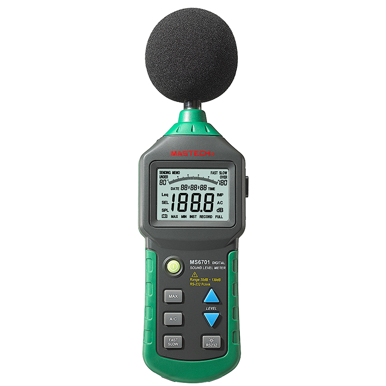 MASTECH MS6702 Digital Sound Level Meter Noise Meter dB Decible Meter Tester Temperature Humidity Meter Thermometer digital indoor air quality carbon dioxide meter temperature rh humidity twa stel display 99 points made in taiwan co2 monitor