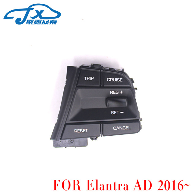 For Hyundai Movable Collar Solaris 1.6l Car Fans Gift Cruise Control Multifunction Steering Wheel Buttons Switch Black