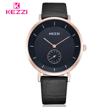 KEZZI Fashion Leather Strap Lover's Watches Women Dress Wristwatches Men Casual Business Watches Female Clocks Reloj Mujer