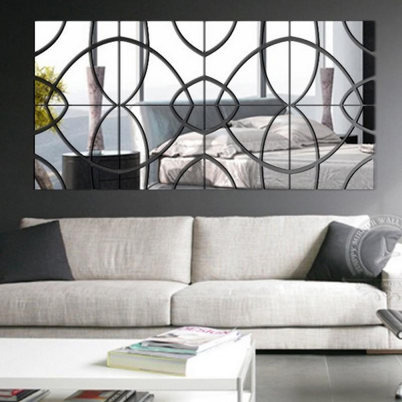 3D Acrylic Mirror DIY home Decorative Mirror Wall Stickers ...