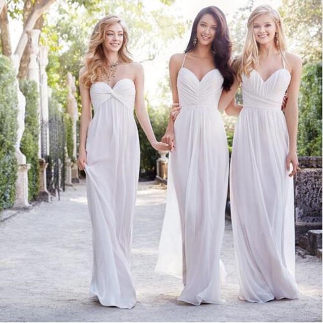 7e3b944d07ee Don's Bridal 2016 Chiffon Long Bridesmaid Dresses Cheap Spaghetti Backless Wedding  Formal Gowns Floor Length Vestido