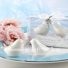 Free Shipping 200pcs/lot=100sets/lot dinnerware Love birds perfectly paired as salt and pepper shakers Tableware