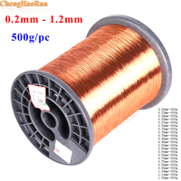 ChengHaoRan 500g 0.2 0.25 0.3 0.35 0.4 0.45 0.5 0.6 0.7 0.8 0.9 1.0 1.2 mm Wire Enameled Copper Wire Magnetic Coil Winding DIY