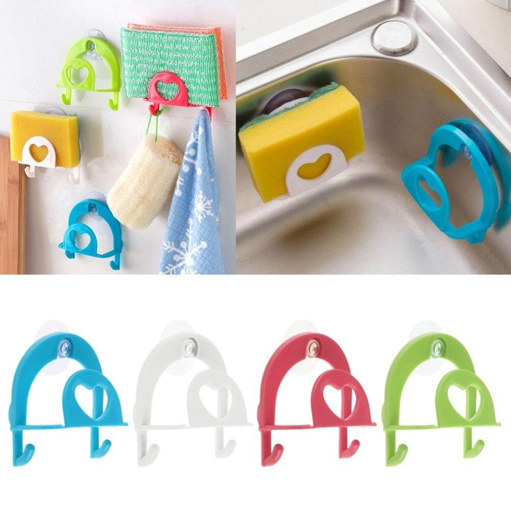 Best Quality 1Pcs Convenient Sponge Holder Suction Cup Sink Holder Kitchen Tools Gadget