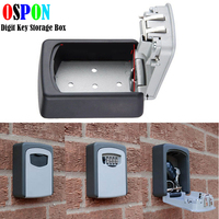 Key Storage Box Digit Wall Mount Combination Lock Four Password Keys Safe Box Aluminum Alloy Material