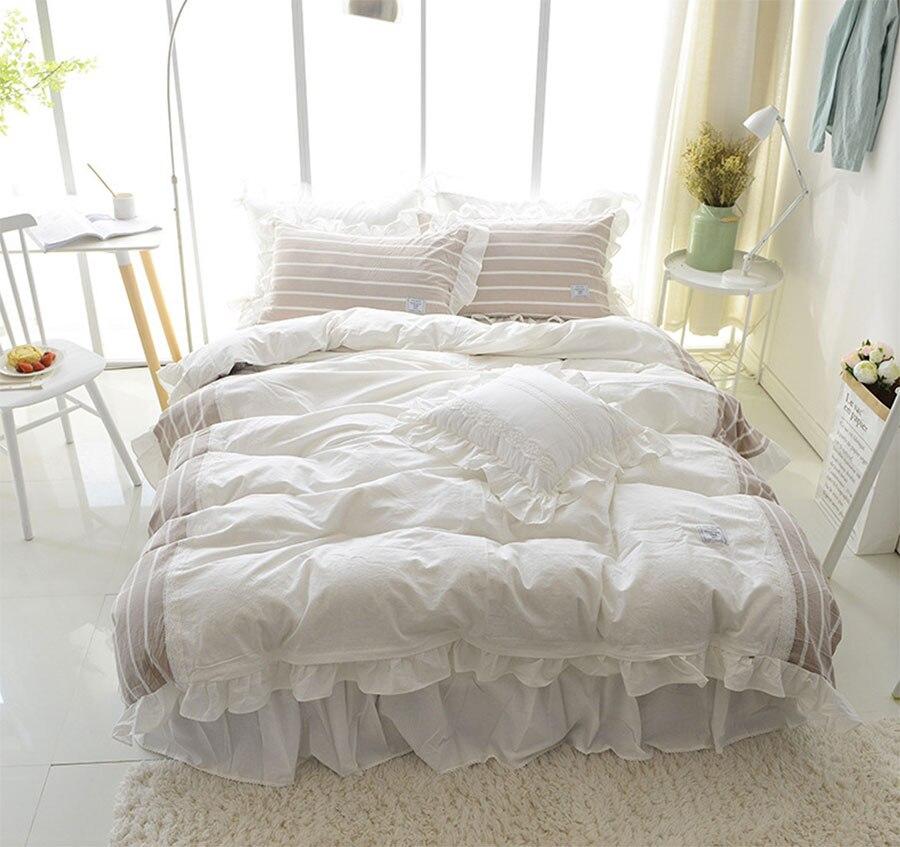 font b Cute b font sweet blue single double bedding set adult teen cotton twin