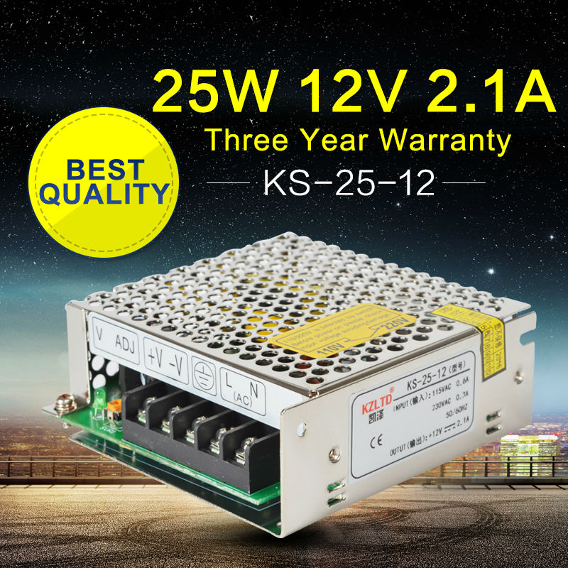 Power Supply 12V 2A Switching Power Supply AC to DC SMPS LED Converter 12V 25W Uninterruptible Power Supply High Efficiency meanwell 12v 75w ul certificated nes series switching power supply 85 264v ac to 12v dc