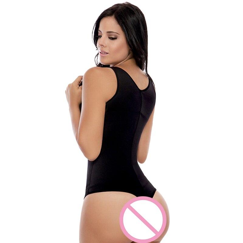 e8c2b0a793 Plus Size S 3XL Women s Braless Latex Thong Style Body Shapewear Sexy  Lingerie Black Slimming Underbust Corset Waist Shaper-in Bodysuits from  Underwear ...