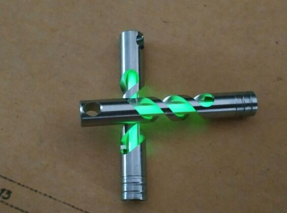 Chain, Tritium, Key, Tube, Vials, Steel