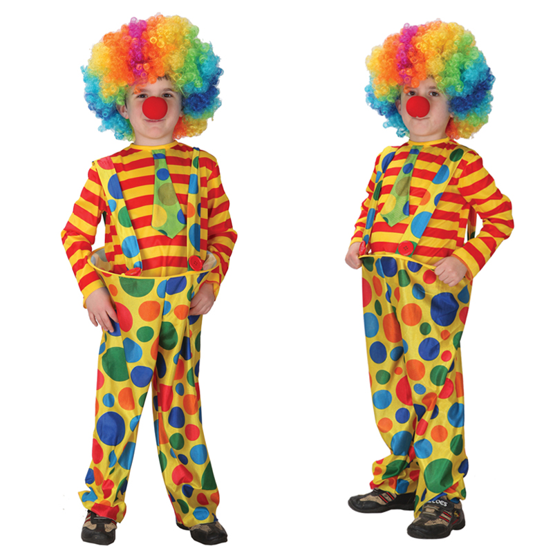 2019 New Children Kids Baby Jumpsuits & Rompers+Hat Halloween Carnival Clown Circus Cosplay Costumes Performance Clothing Party