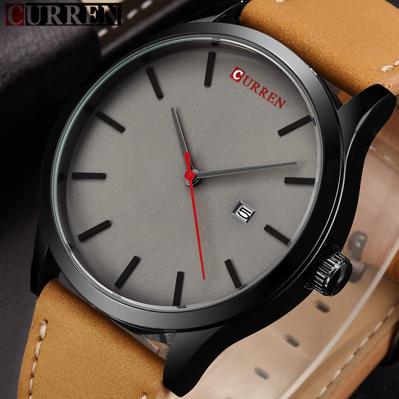 Curren Watch Men Brand Luxury Leather Strap Sport Quartz Watches New Fashion Casual Mens Wristwatch Male Clock Relogio Masculino new fashion women wristwatch luxury leather strap casual candy leather quartz watch relogio feminino gift clock drop shipping