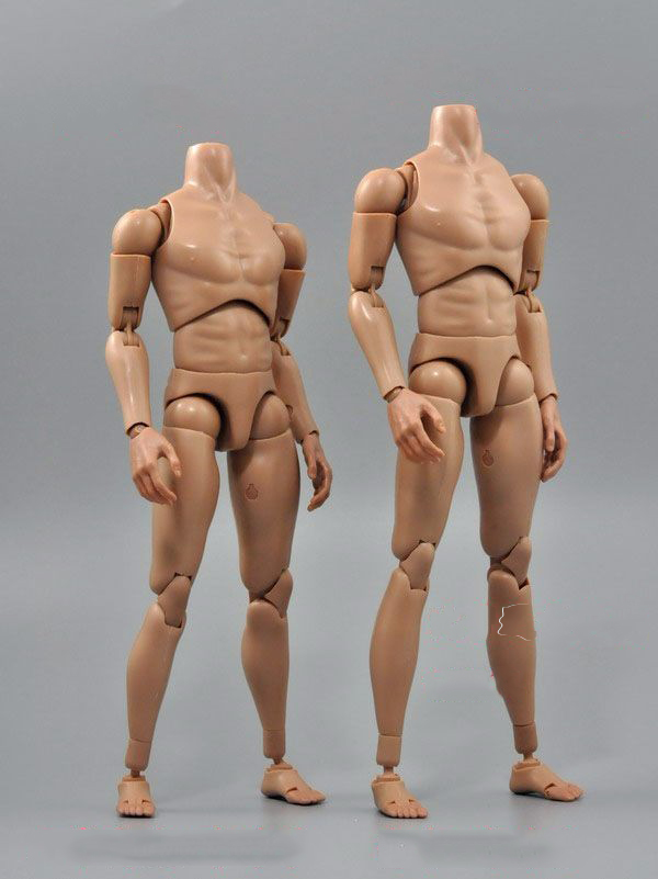 Toys Accessories 1/6 Scale B006/B007 Military MalNarrow Shoulders Nude Action Figure Body Skin Color for 12 Action Figure image