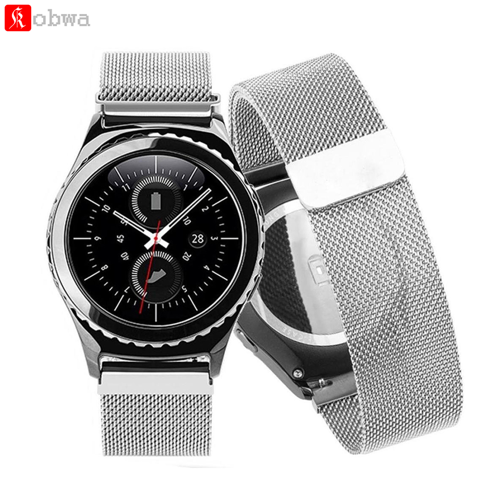 Smartwatch Band Link Bracelet strap Milanese Loop Magnetic Closure watchbands St