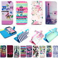 Fashion Paint Phone Wallet Flip Case Coque Fundas For iPhone 5C Case Capas Para For iPhone 5C iPhone 5 C Phone Cover+Card Holder