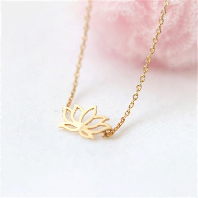 Fashion plant lotus necklace tiny lotus flower lotus necklace fashion plant lotus necklace tiny lotus flower lotus necklace pendants jewelry for lady women audiocablefo