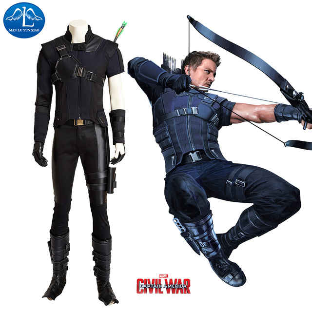dae6d41d830 MANLUYUNXIAO Captain America Costume Civil War Hawkeye Costume Men Costume  Deluxe Outfit Halloween Carnival Cosplay Costume