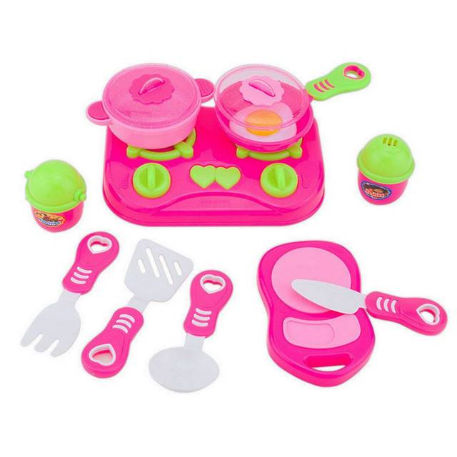 Play Kitchen Dishes aliexpress : buy 11pcs pink kids house children kitchen toys