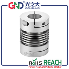 GND coupling metal shaft high torque motor generator bellows servo motor spring quick-bellow aluminum alloy camlock  coupler bw40t od40 l55 flexible metal bellow shaft coupling