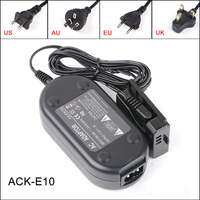 Fomito ACK E10 7.4V 2A AC Power Adapter Kit For Canon EOS Rebel T3 and T5 1100D 1200D Cameras