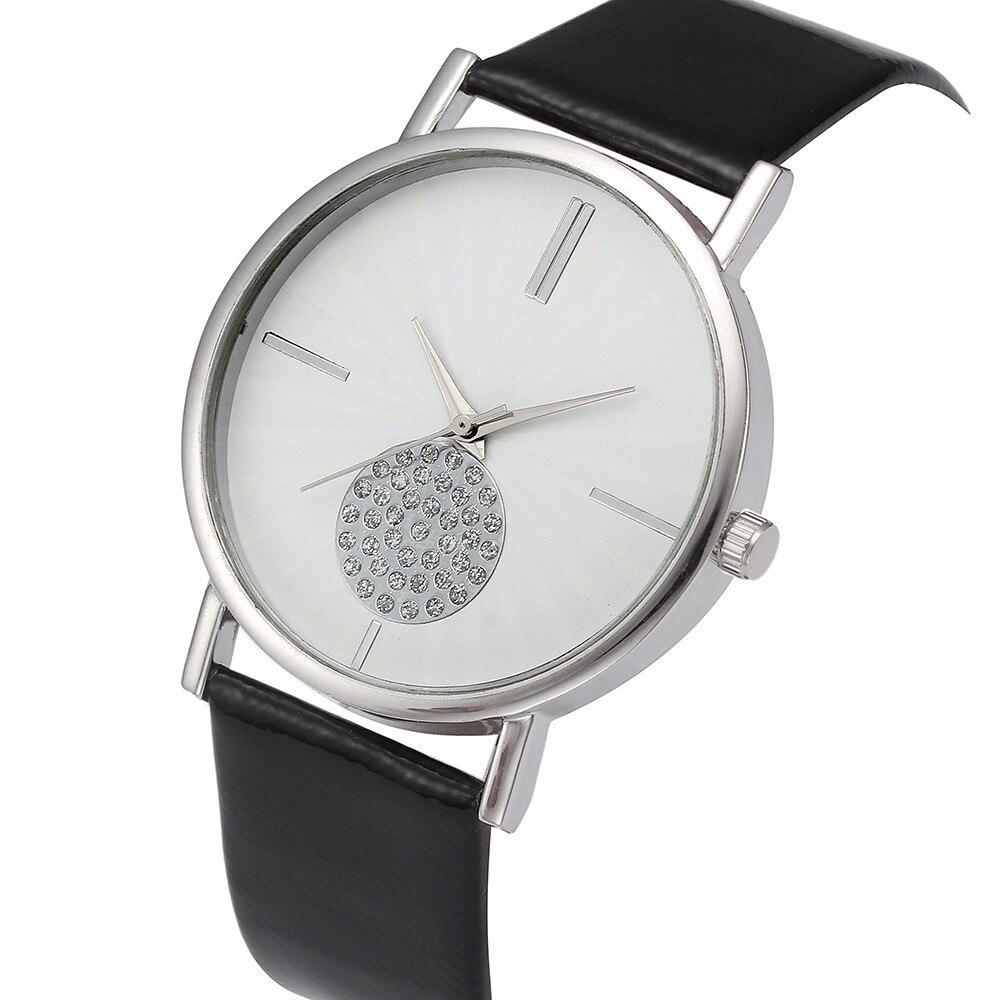 Luxury Diamond Watches Mens Women Top Brand Business Leather Strap Quartz Watch Simple Design Big Dial Wrist Watches Relogio #Z