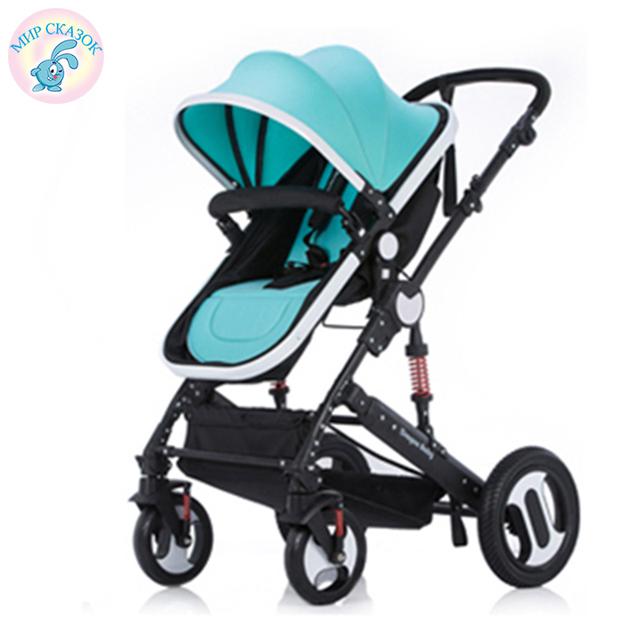 Rússia frete grátis carrinho de bebê de alta paisagem pode sentar mentira e bebê inverno two-way choque carrinho dobrável portátil crianças