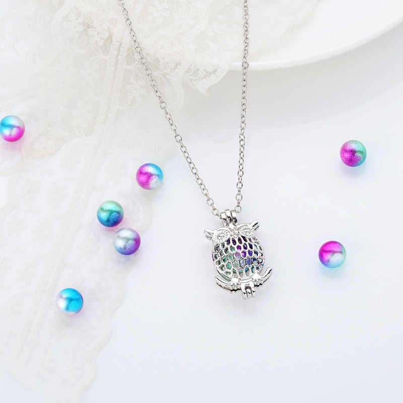 Diy pearl cage น้ำมันหอมระเหย diffuser locket สามารถใส่ pompoms, lava ลูกปัด, หิน, อัญมณีหรืออัญมณีไข่มุกสำหรับเพื่อนที่ดีที่สุดผู้หญิง