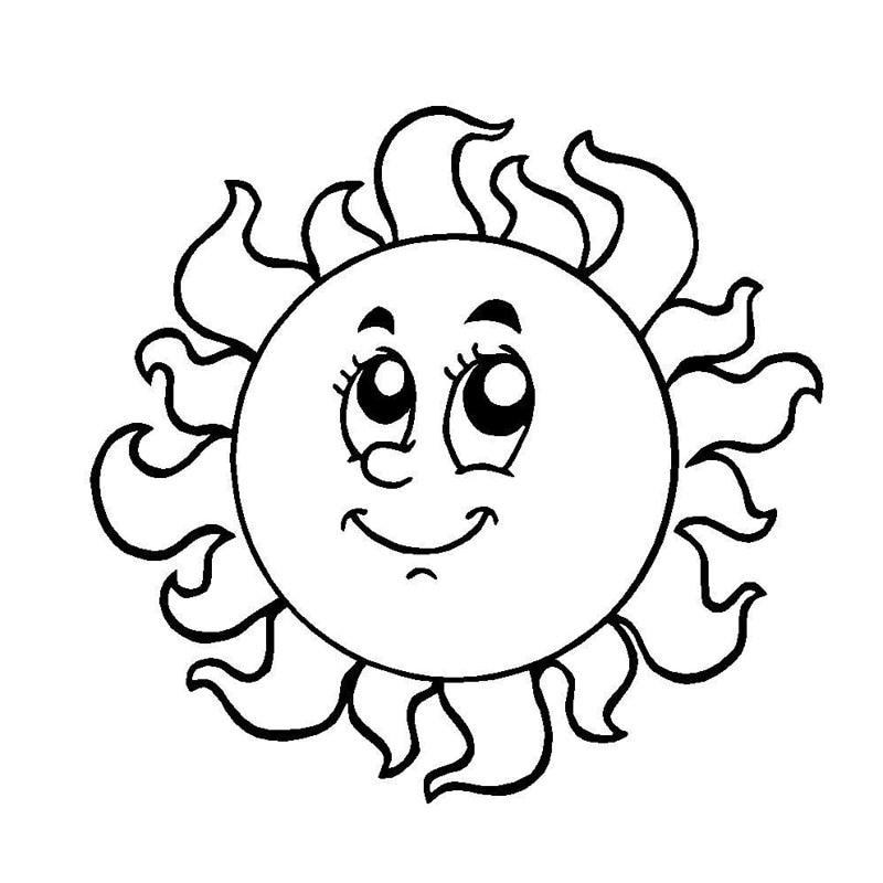 Солнышко черно-белая картинка
