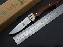Elk Eidge Full Tang Fixed Blade Knife Outdoors Camping Survival Knife rosewood + camel bone handle