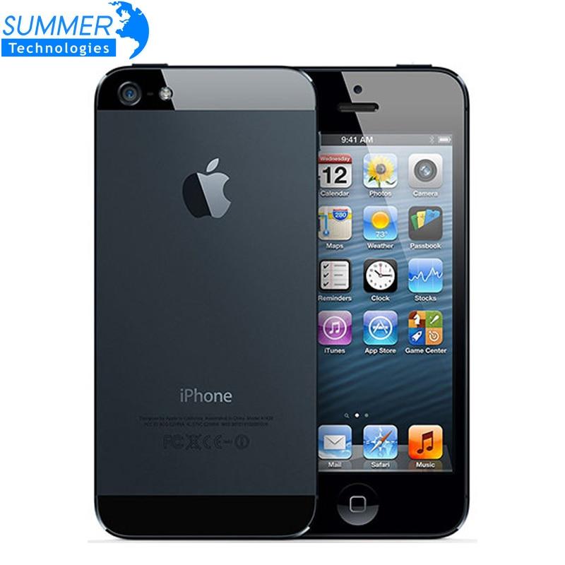 Original Unlocked Apple iPhone 5 Cell Phones Dual Core 16GB 32GB 8MP Camera 4 0 inches